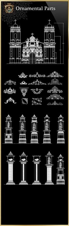 Ornamental Parts of Buildings 6. Cad BlocksCad DrawingNeoclassical InteriorLuxury  Interior DesignInterior DecoratingAutocadArchitecture ...