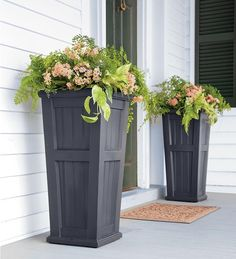 by Plow & Hearth Lexington Tall Self-Watering Planter - $99.95 I've always loved containers flanking the front door. They draw the eye in and stylishly welcome visitors.