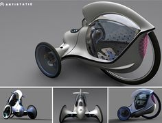 Heikki Juvonen is a student at London's Royal College of Art. After Citroen launched their Double Challenge – which dared students to come up with a compelling design for an ultra-compact urban vehicle – Juvonen came up with this three-wheeler and called it the E-3POD - he won the contest.