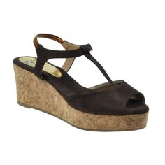 Eve Dior's Brown Colored Suede Leather Wedges	 #onlineshopping http://goo.gl/jl2pzW