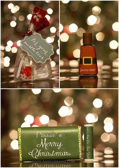 Simple and Inexpensive Christmas Gift Ideas | All these ideas are under $10 TOTAL! FREE TEMPLATES :) www.amylorraine.com