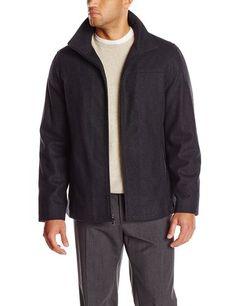 Save 56% on Perry Ellis Men's Tall Melton Wool Jacket