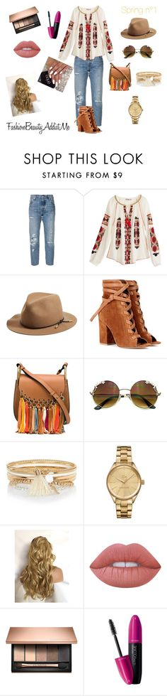 """""""Spring n°1"""" by chachalapin on Polyvore featuring mode, Levi's, Calypso St. Barth, rag & bone, Gianvito Rossi, Chloé, River Island, Lacoste, Lime Crime et Revlon"""