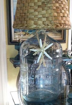 Custom Vintage 5 Gallon Glass Water Jug Repurposed As A