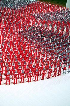 Yukinori Yanagi Banzai Corner -- Japanese flag rendered using Ultraman figurines
