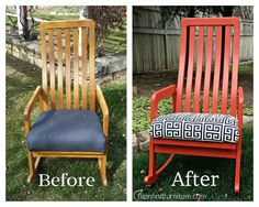 ROCK WHAT YOU'VE GOT! Diy Furniture Redo, Solid Oak, Rocking Chair, Home Decor, Chair Swing, Rocker Recliner Chair, Rocking Chairs, Interior Design, Home Interior Design