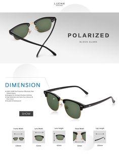2f04d81dca3 LUENX Men Clubmaster Polarized Sunglasses Women UV 400 Protection Grey Lens  Black Retro Classic Frame 51MMwith