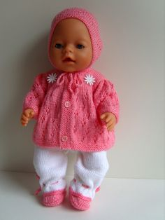 Ideas Baby Born Doll Clothes Patterns Free For 2019 Knitting Dolls Clothes, Crochet Doll Clothes, Knitted Dolls, Baby Born Clothes, Bitty Baby Clothes, Baby Clothes Patterns, Clothing Patterns, Girl Dolls, Baby Dolls