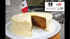 PASTEL DE ZANAHORIA   #VickyRecetaFacil - YouTube Cheesecakes, Banana Bread, Cupcakes, Pie, Cooking Recipes, Pudding, Baking, Cake Betun, Food