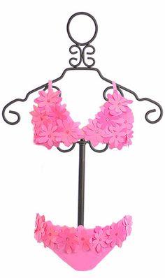 Kate Mack Bikini for Girls in Pink Daisy