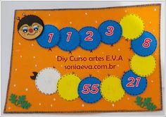 Tabuleiro para jogos matematicos em EVA www.soniaeva.com.br/
