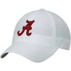 38d4c6cb02f Alabama Crimson Tide Top of the World Primary Logo Staple Adjustable Hat -  White  AlabamaCrimsonTide