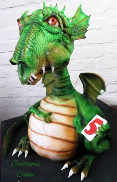 """""""Sir"""" Liam and his Dragon - Cake by Callicious Cakes - CakesDecor"""