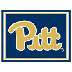 Ncaa - University of Pittsburgh Blue 10 ft. x 8 ft. Indoor Rectangle Area Rug