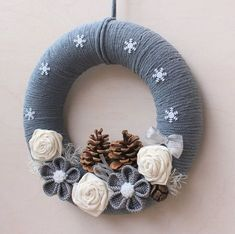 Items similar to Christmas Wreath for Front Door, Christmas Decoration, Christmas Door Wreath, Christmas Wall Decoration, Christmas Front Door Decoration on Etsy Front Door Christmas Decorations, Crochet Christmas Decorations, Christmas Front Doors, Christmas Door Wreaths, Etsy Christmas, Front Door Decor, Felt Christmas, Holiday Wreaths, Mickey Christmas