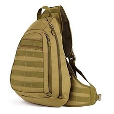 Protector Plus Tactical Military Sling Chest Pack Bag Molle Daypack Laptop Backpack Large Shoulder Bag Crossbody Duty Gear For Hunting Camping Trekking (Brown) Protector Plus http://www.amazon.com/dp/B0171MKAAO/ref=cm_sw_r_pi_dp_9Nkexb119WN0B