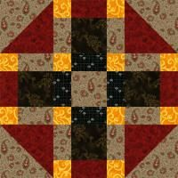 """Free Quilt Block Patterns, Names Beginning with T through Z: 12-1/2"""" Tic Tac Toe Quit Block Pattern"""