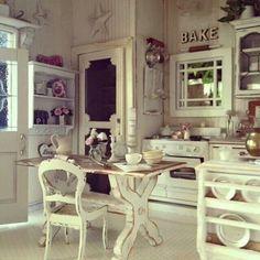 Shabby Chic Kitchen Cabinets Ideas 25 | Kitchens | Pinterest ...