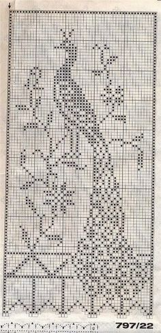 Crochet Curtains Archives - Beautiful Crochet Patterns and Knitting Patterns Filet Crochet Charts, Crochet Motifs, Crochet Cross, Crochet Art, Thread Crochet, Crochet Doilies, Crochet Stitches, Crochet Solo, Cross Stitch Bird