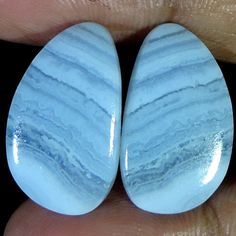 Best Offer 100% Natural Blue Lace Agate Fancy Shape Pair Cabochon Loose Gemstone #jaipurgems2016