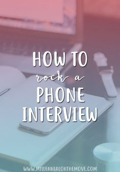 How to Rock a Phone Interview - Millennial on the Move Interview Questions And Answers, Job Interview Tips, Interview Preparation, Interview Outfits, Interview Techniques, Writing Thank You Cards, Phone Interviews, Job Search Tips, Career Search