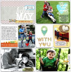 Project Life layout by Jen with the June 2013 Kits from Citrus Twist