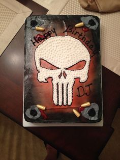 Punisher Birthday Cake Red
