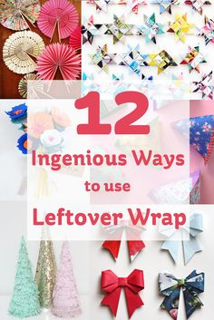 Ingenious Ways to Use Leftover Giftwrap #Christmas