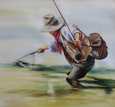 Original Watercolor Paintings – Fly Fishing & Cowboy Art - Nelson Boren