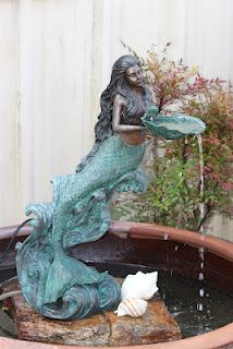 Mermaid Fountain (they also have the statue of only the mermaid) from Savannah Secret Gardens - rent?