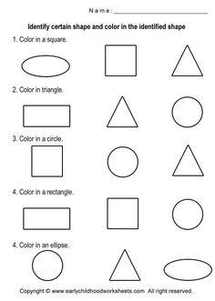 Basic Shapes Worksheets | Coloring Shapes Worksheets - Worksheet #5
