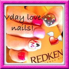 My V-day nails part 1