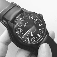 Madalina in our service department is always fascinated by a 24 hour movement. #Fortis #Flieger #watches