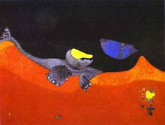 Max Ernst Best Work   Famous Art work & Drawing by Max Ernst - Sign for a School of Monsters
