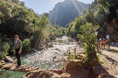 Akchour waterfall- hiking in  moroccos rif mountains
