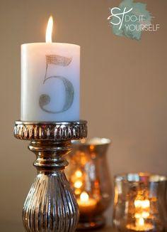 Tutorial para hacer numeros de mesa con velas.