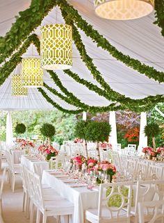 Garden-Inspired Reception Tent | DELESIE, INC | http://knot.ly/6499BtFk9