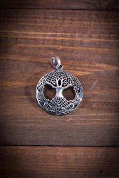Mittelalter Schmuck Silber Amulett Weltenbaum