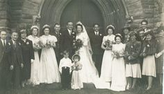 1940s Wedding Dresses Photographs | Wartime Wedding Fashion History Pictures