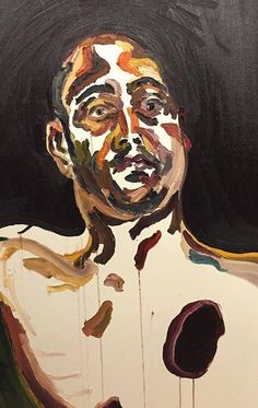 Sukumaran's lawyer has taken a more disturbing self-portrait from his cell, depicting the artist shot through the heart. (Supplied)