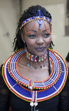 "Beautiful Girl From Africa #necklace #color ""Joanna""                                                                                                                        Torrie Richardson"