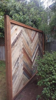 Backyard Fence Made with Repurposed Pallets Fences