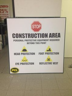 To ensure the safety of both workers and passersby, construction area must be equipped by construction signs. We  design and install your custom construction signs for either interior or exterior signage, and can be posted just about anywhere in your job site. Made by Signarama Dixie-Canada for PCL Construction  #signcompanies #signarama_dixie #channelletters #vinyl #design #signage #signs #install #construction #pcl #jobsite #constructionsite #constructionsigns Construction Signs, Site Sign, Channel Letters, Exterior Signage, Letterhead, Safety, Canada, Lettering, Interior