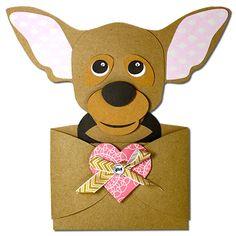 JMRush Designs: Chihuahua Hug Gift Card Holder