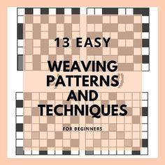 13 Basic Weaving Techniques and Weaving Patterns – The Beginning Artist – Debra Adams – weberei Inkle Weaving Patterns, Swedish Weaving Patterns, Weaving Loom Diy, Flax Weaving, Inkle Loom, Paper Weaving, Loom Patterns, Tapestry Weaving, Hand Weaving