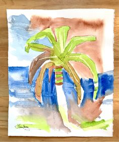 Summer Breeze watercolor Laura Trevey