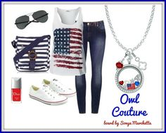 Owl #couture 4th of July #style ~ Origami Owl See it all at Amy Hall, Independent Designer ❥TO SHOP: http://amyhall.origamiowl.com/ -or- click on the pic to order ❥TO HOST JEWELRY BAR OR REQUEST CATALOG E-MAIL: ajjmhall@hotmail.com ❥LEARN ALL ABOUT JOINING MY TEAM: http://amyhall.origamiowl.com/en/join-our-team.ashx Designer ID# 42622