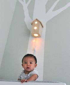 Jasper Modern Birdhouse Lamp for Baby Nursery Wall Hanging Decor for Tree Decal via Etsy
