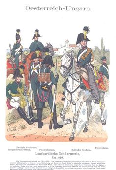 Band IX #15.- Österreich-Ungarn. Lombardische Gendarmerie. Um 1820.
