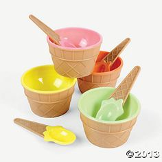 Ice Cream Dishes - serving and favors $15 for 1 doz. @ oriental trading